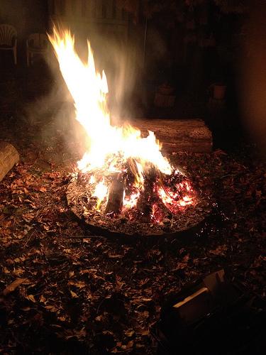 christmas campfire photo